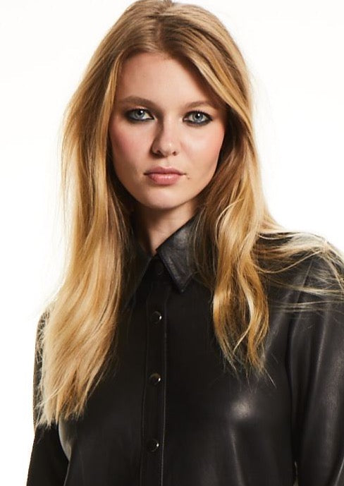 B I L L I E  Leather Shirt