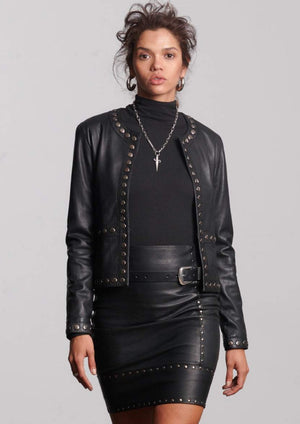 R I V E T  Leather Jacket