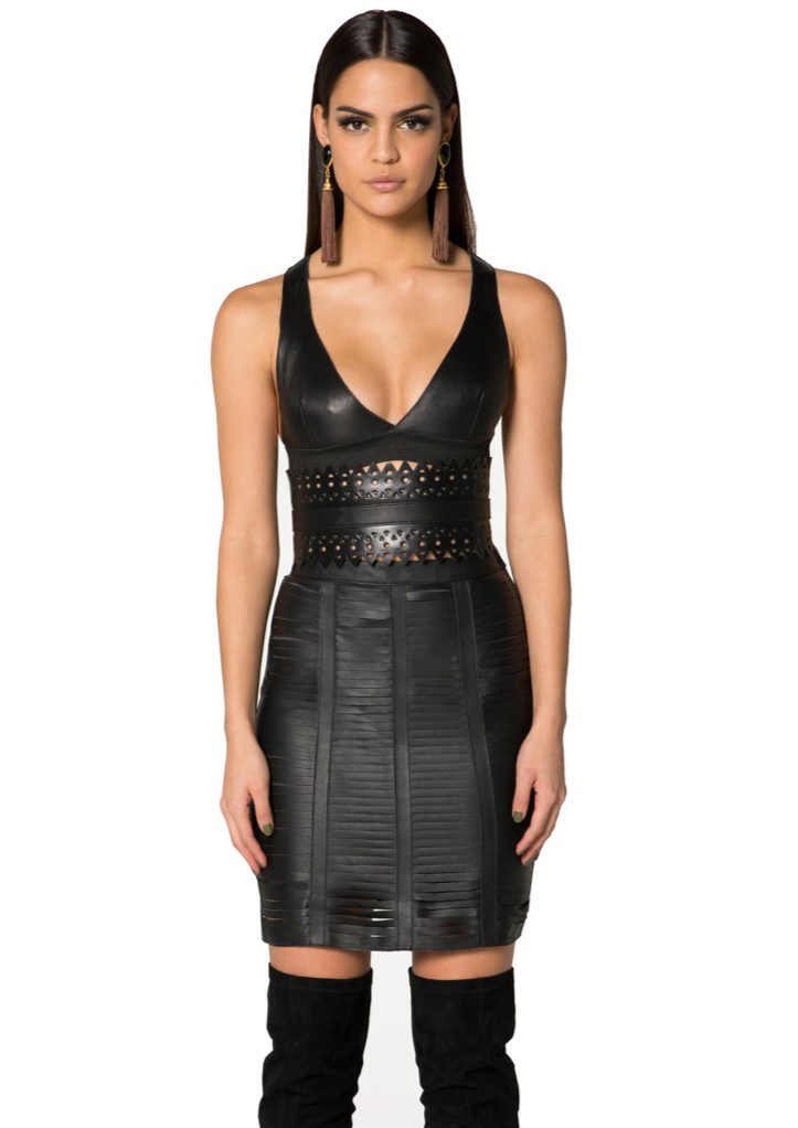 S L I T   Leather Skirt
