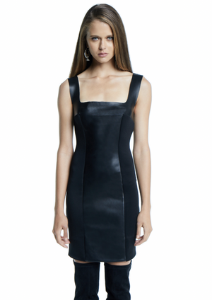 R I V E R  Leather Dress
