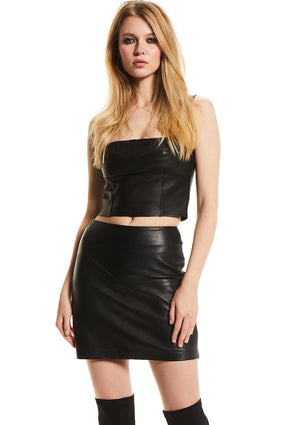 S I E N N A  Leather Skirt