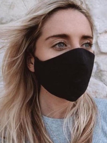 FACE MASK Black Linen Medium