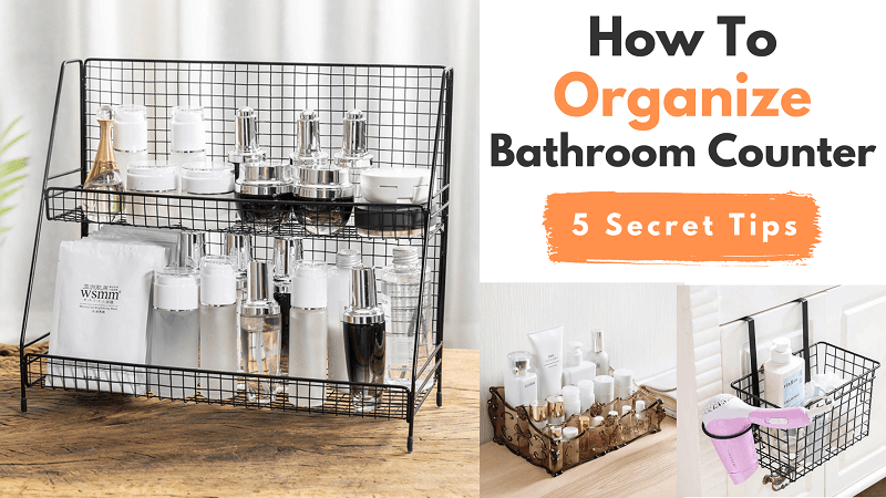 how to organize bathroom countertop