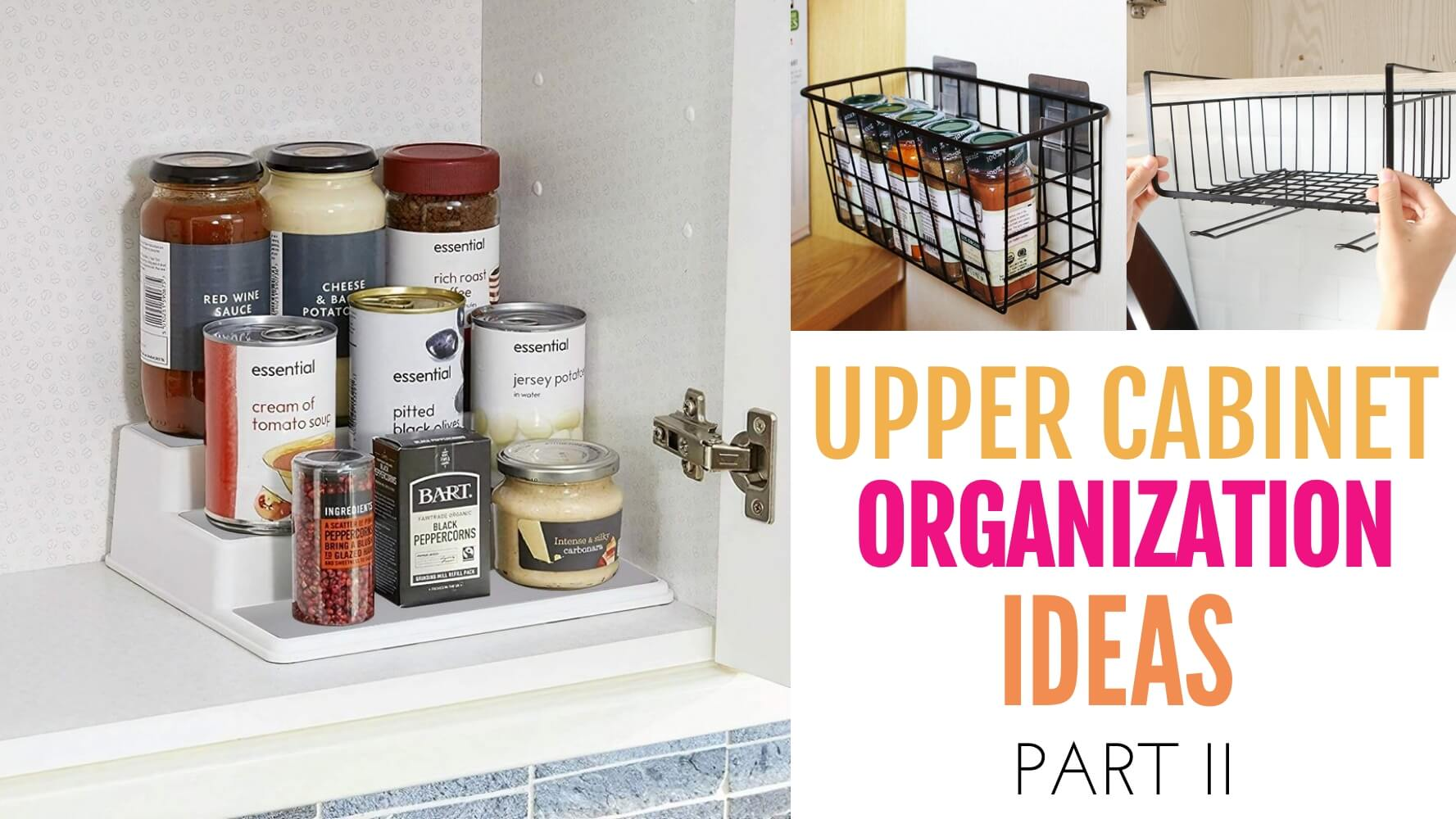 upper cabinet organization ideas