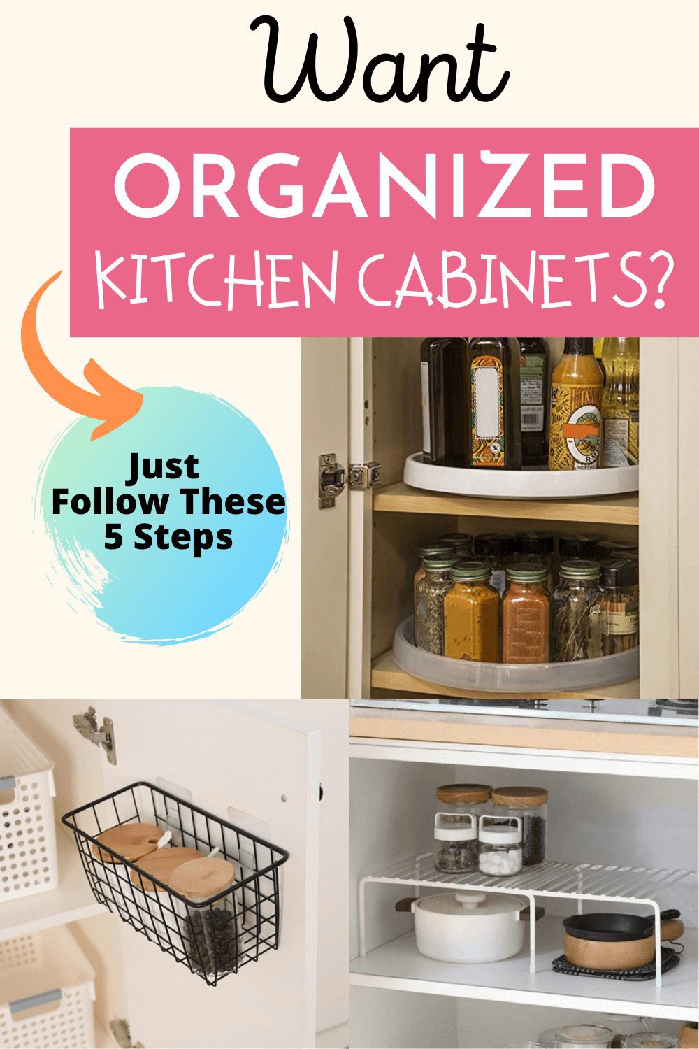 lower cabinet organization