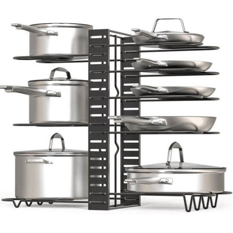 8 Layers Pot Rack Organizer