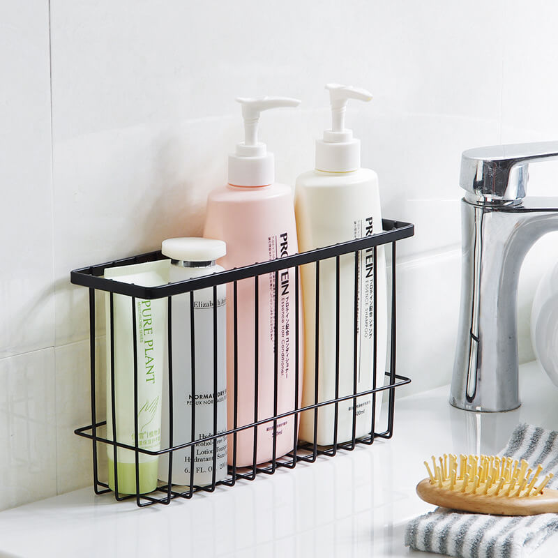 Drill Free Tall Bathroom Basket