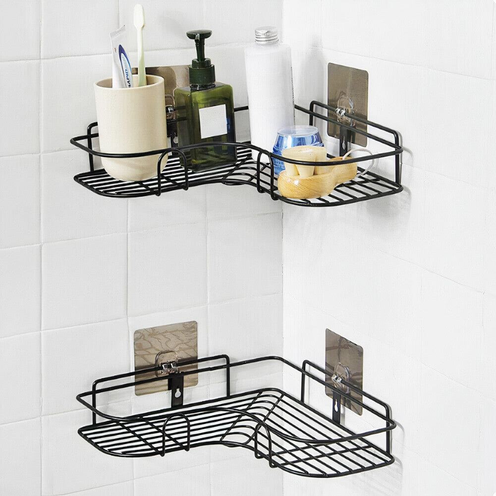 ($15 OFF Each Today) Drill Free Shower Caddy For Corners