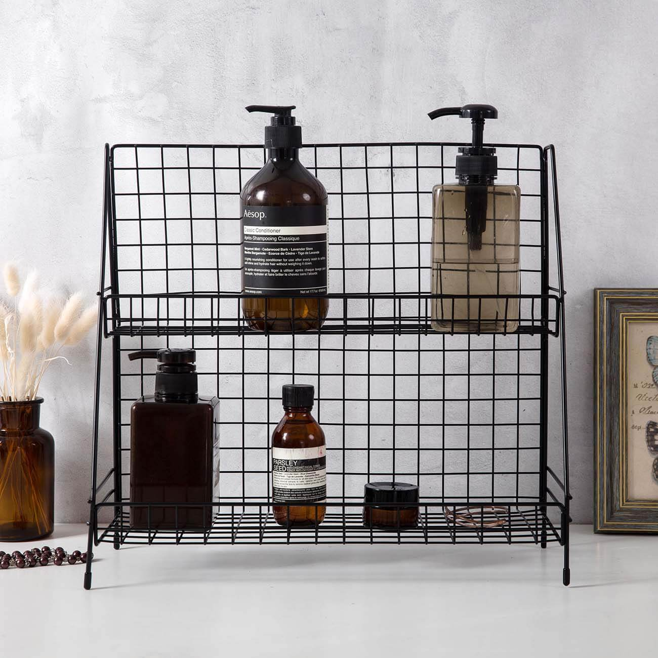 Double Tier Bathroom Organizing Rack