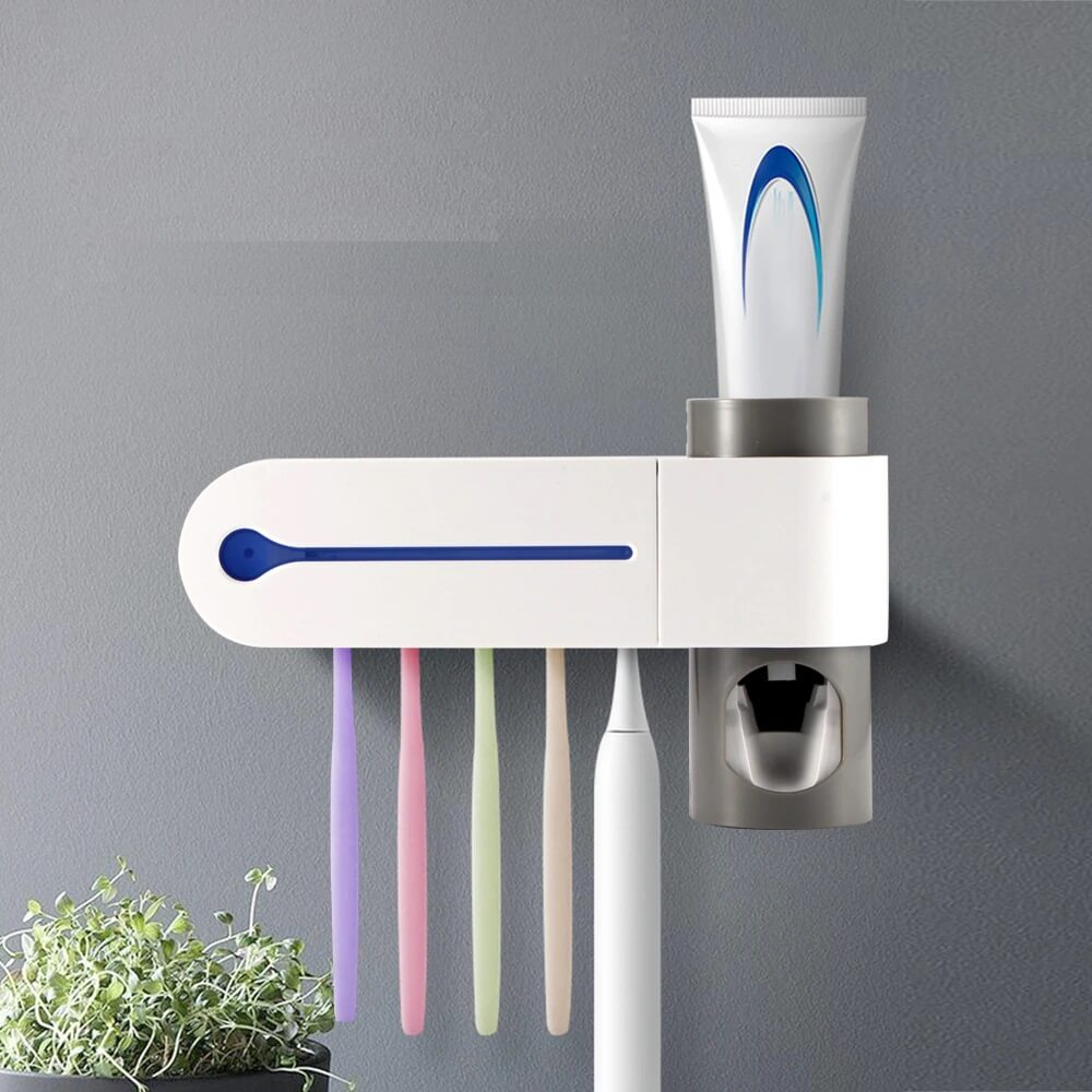 3 in 1 Antibacterial Toothbrush Holder