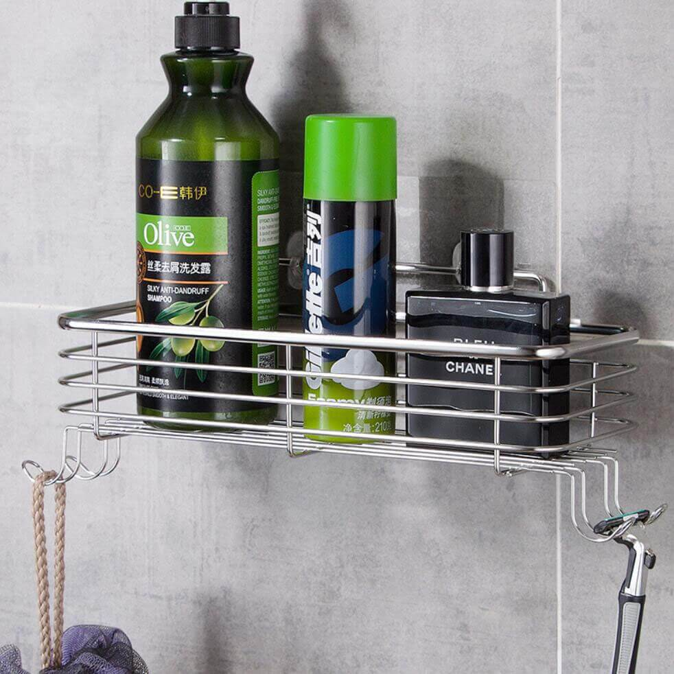 304 Stainless Steel Bathroom Caddy (Drill Free)
