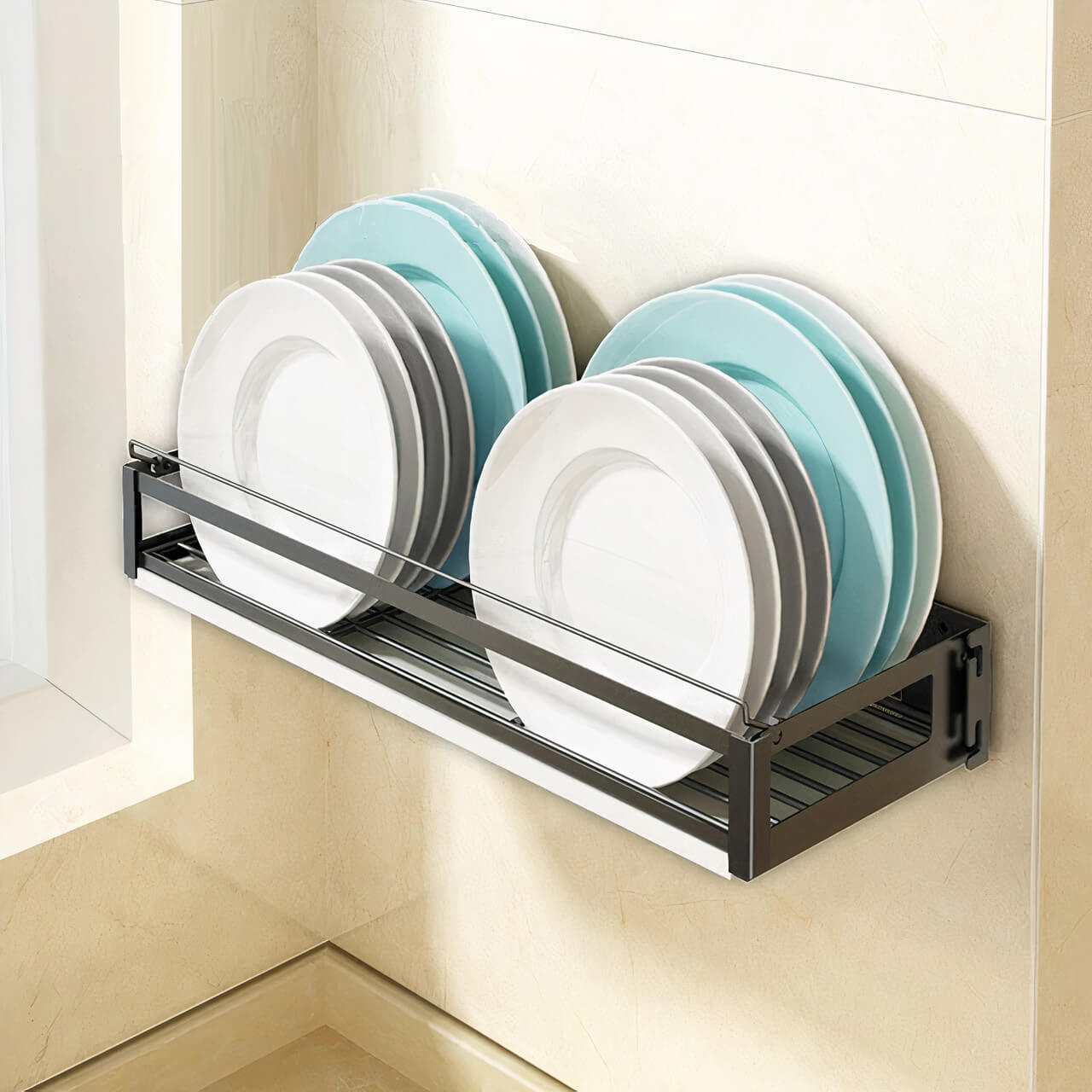 Wall Mounted Dish Shelf