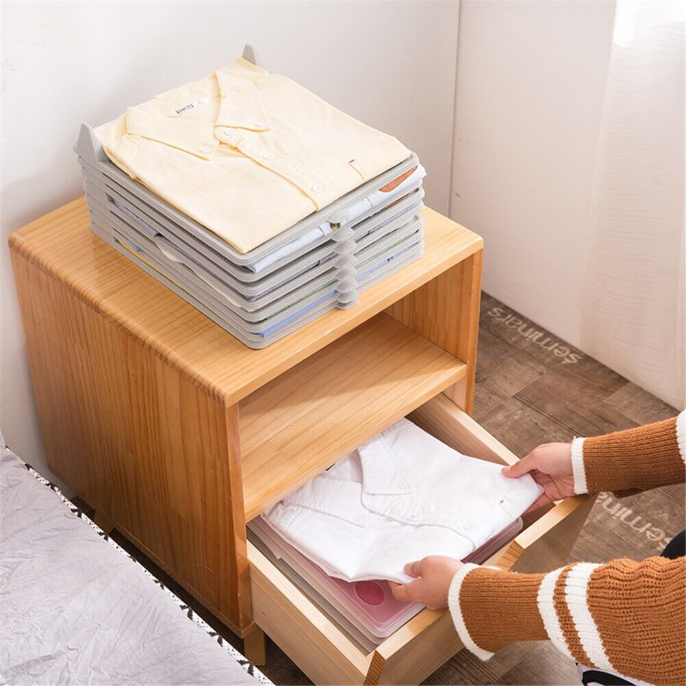 Closet Organizer and Shirt Folder