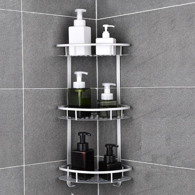 Wall Mounted Corner Bathroom Shelf