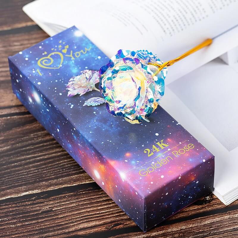 24K Galaxy Gold Rose Flower