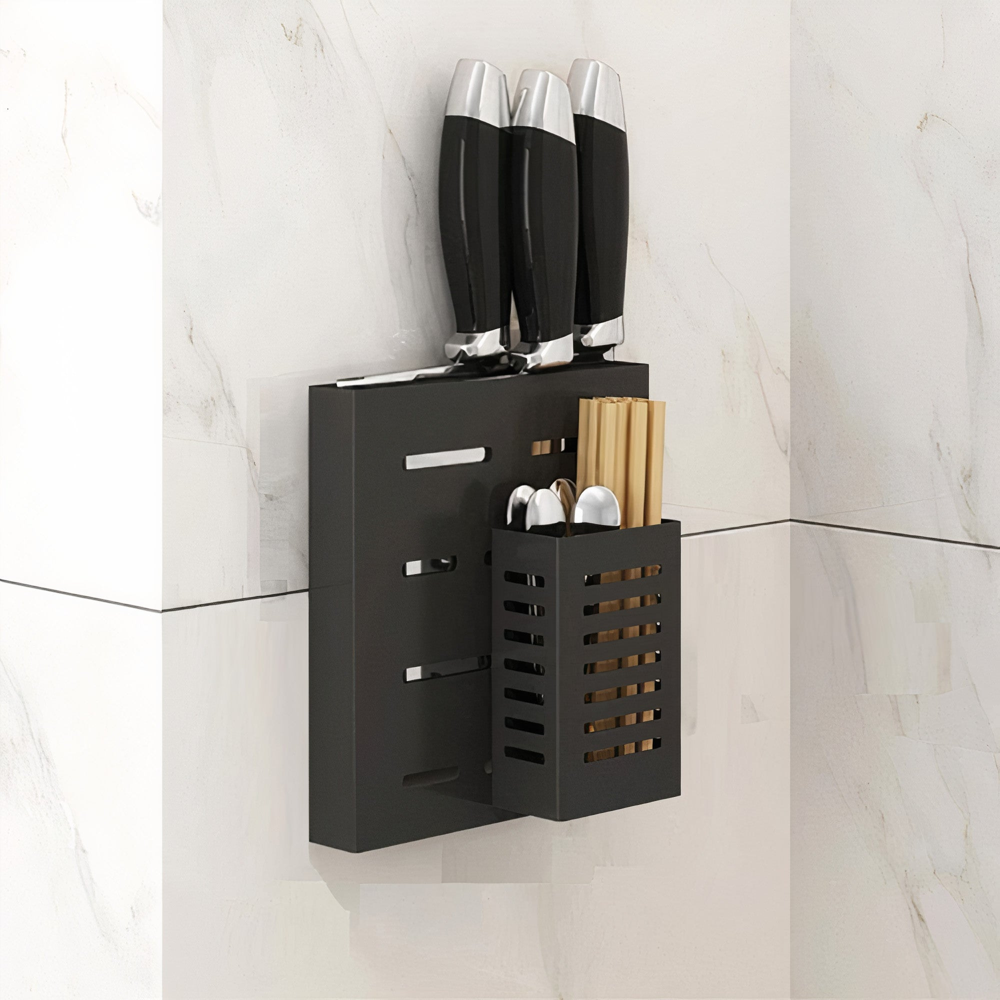 Wall Mounted Knife & Cutleries Holder