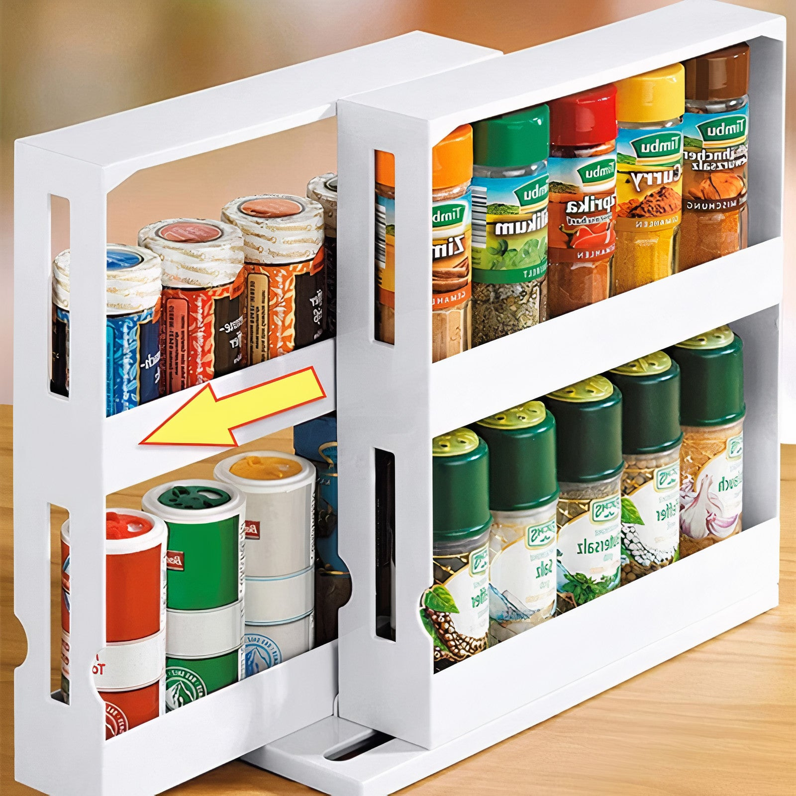 Sliding & Rotating Spice Drawer