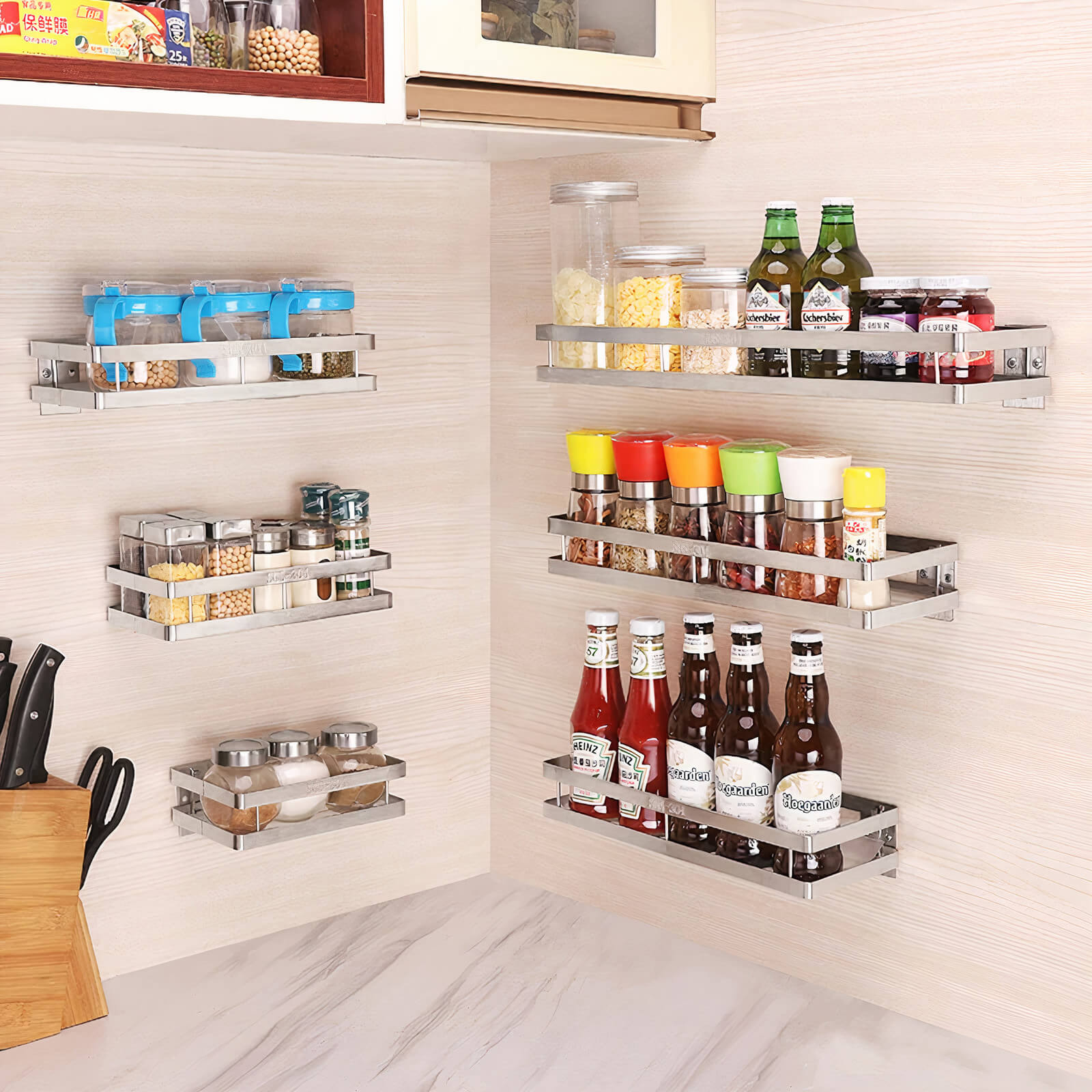 Wall Mounted Stainless Steel Shelf