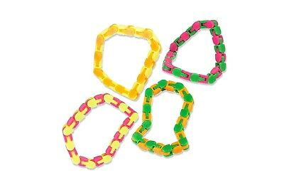 Wacky Tracks Finger Fidget Stress Reliever - Snap and Click ADHD, Sensory toy, SPD, ADD Stress Relief, Party Favor 4 Pack