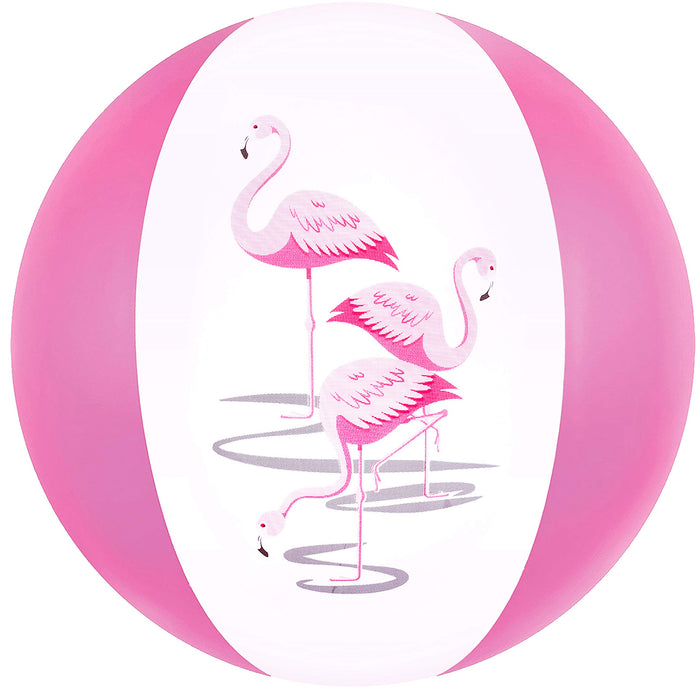 "16"" Pink Flamingo Party Pack Inflatable Beach Balls - Beach Pool Pink/Flamingo Themed Party Toys (12 Pack)"