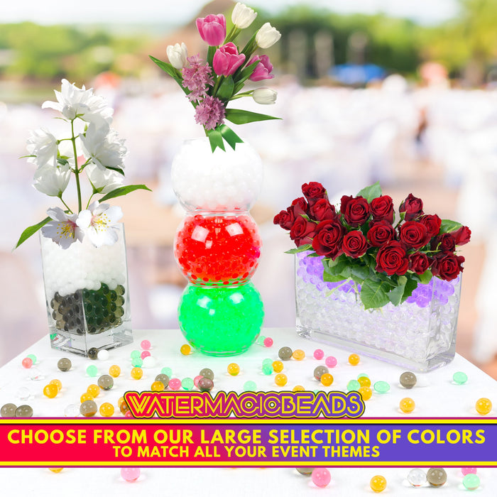Big Mo's Toys Floral Wedding Pearl Water Beads - Clear Gel Balls for Vase Or Candle Fillers for Centerpiece