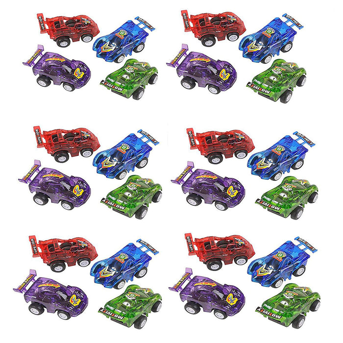 "2.5"" Party Pack Assorted Pull Back Racing Cars. - 24 Pieces"