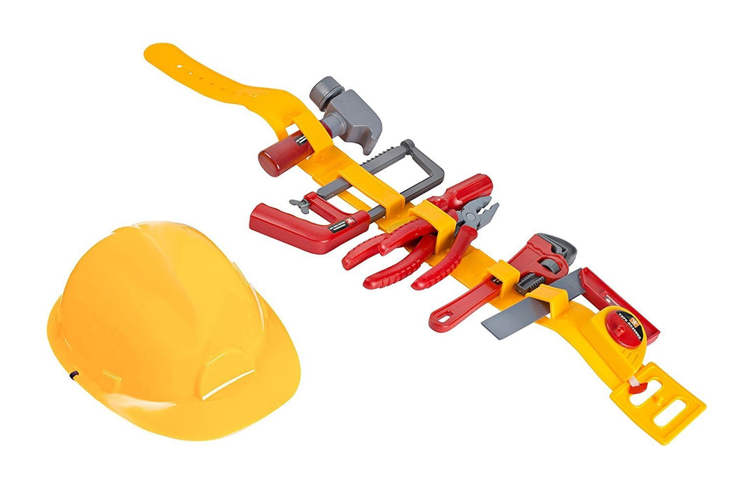 Kids Tool Toy - Pretend Play Childrens Tool Belt Set With Hard Hat