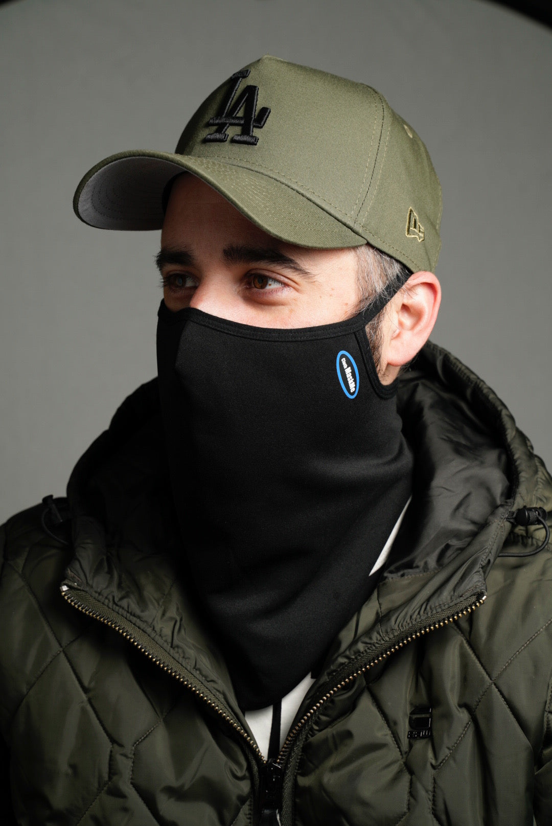 "Fitted Black ""Stay Up"" Snood"
