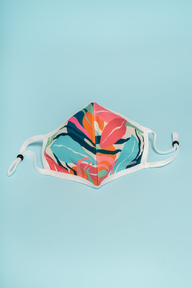 Summer Coloured Leaves face mask