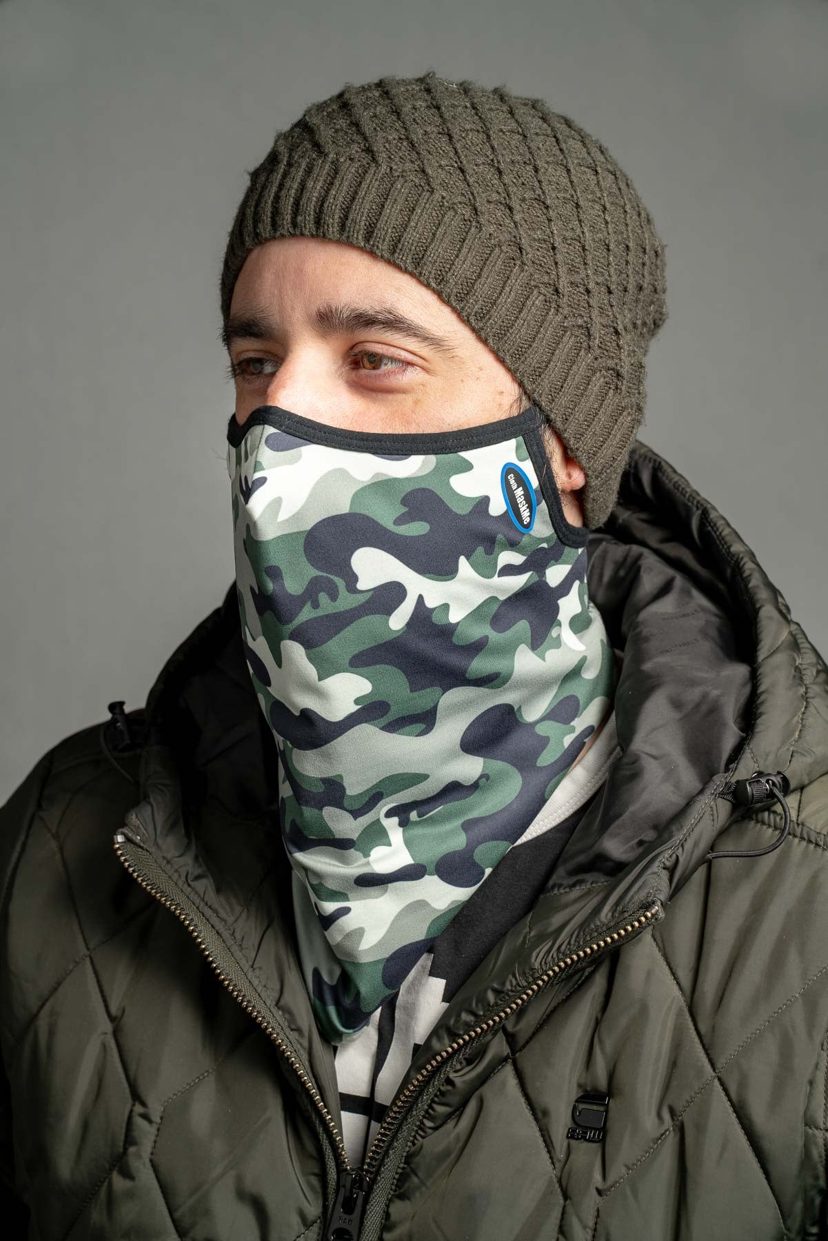 "Fitted Green Camo ""Stay Up"" Snood"