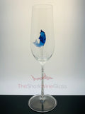 Two Dolphin Champagne Flutes™ Embellished w Swarovski™ Crystals in the Stem in a Beautiful Gift Box