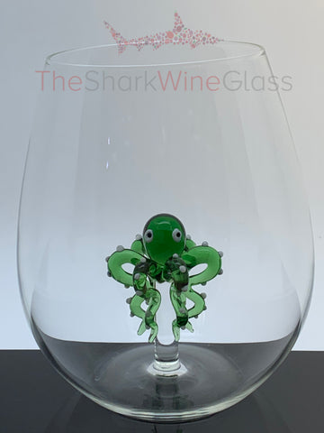 The 3D Stemless Octopus Wine Glass™ Crystal - Featured On Delish.com, HouseBeautiful.com & People Magazine/People.com