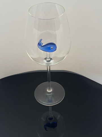 The 3D Stemmed Whale Wine Glass™ Crystal - Featured On Delish.com, HouseBeautiful.com & People Magazine/People.com