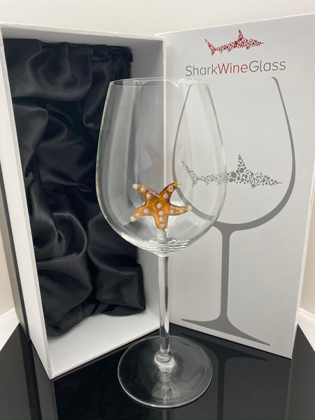 The 3D Stemmed Starfish Wine Glass™ Crystal - Featured On Delish.com, HouseBeautiful.com & People Magazine/People.com