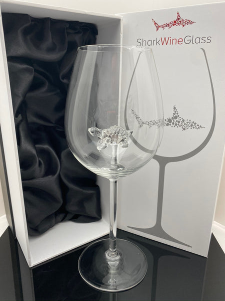 The 3D Stemmed Sea Turtle Wine Glass™ Crystal - Featured On Delish.com, HouseBeautiful.com & People Magazine/People.com