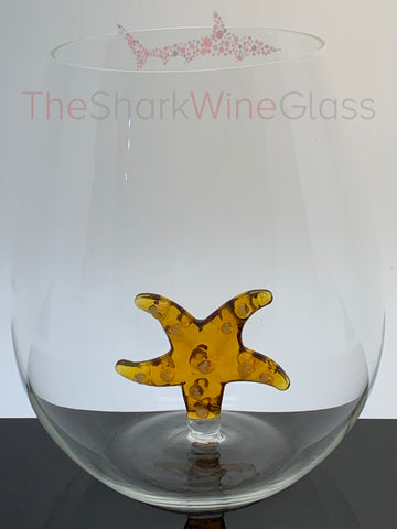 The 3D Stemless Starfish Wine Glass™ Crystal - Featured On Delish.com, HouseBeautiful.com & People Magazine/People.com