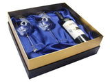 Special Edition Two Shark Wine Glasses™ in a Beautiful Gift Box w/ opening for a Bottle of Wine - Featured On Delish.com, HouseBeautiful.com & People Magazine/People.com