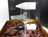 Two 2020 Champagne Flutes™ Embellished with Swarovski™ Crystals in the Stem in a Beautiful Gift Box