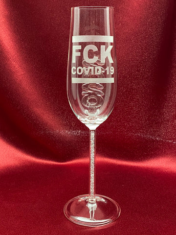 F COVID-19 2020 Flute Custom Etched as Shown