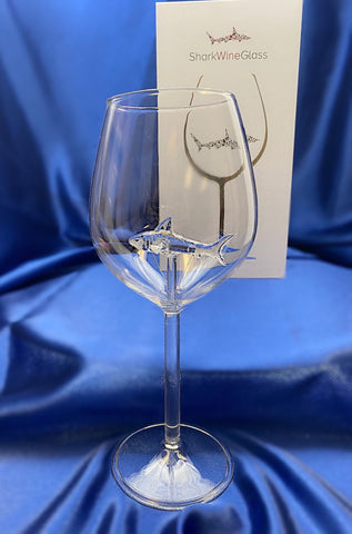 The 3D Stemmed Shark White Wine Glass™ Crystal - Featured On Delish.com, HouseBeautiful.com & People Magazine/People.com