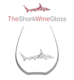 The Stemless Shark Wine Glass™ Crystal Featured On Delish.com, Housebeautiful.com & People.com