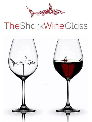 The 3D Shark Wine Glass Crystal™ Lead-Free SHIPS TODAY - Featured On Delish.com, HouseBeautiful.com & People Magazine/People.com