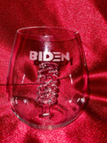 The 3D B Stemless 2020 Wine Glass™ Custom Etched