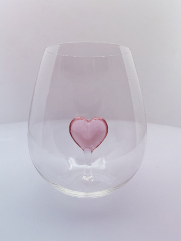 The 3D Stemless Heart Wine Glass™ Crystal - Featured On Delish.com, HouseBeautiful.com & People Magazine/People.com
