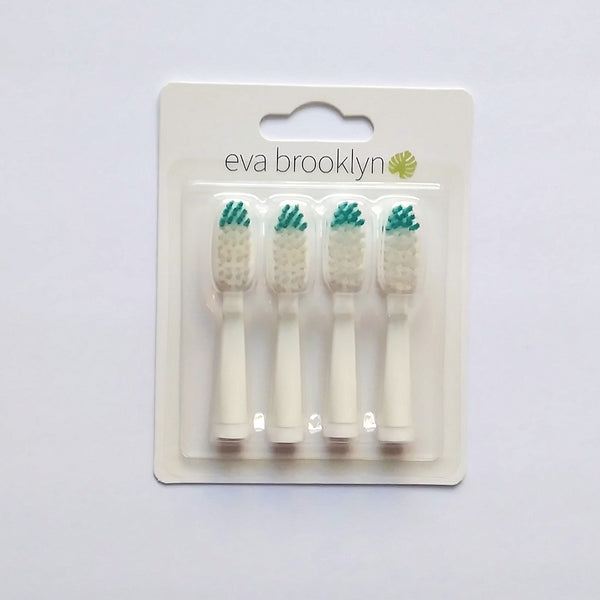 EB SOFT BRISTLES Replacement brush heads - 4 pack