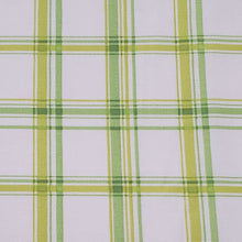 Load image into Gallery viewer, Green, Yellow, and White Plaid Print Washable Fabric Face Mask with Filter Layer