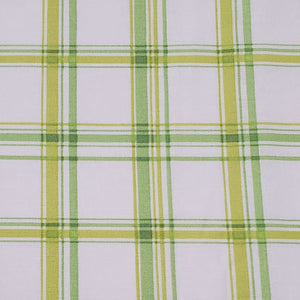 Green, Yellow, and White Plaid Print Washable Fabric Face Mask with Filter Layer