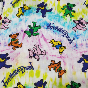 Grateful Dead Tie Dye Bears Print Cotton Washable Face Mask with Filter Layer
