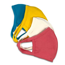 Load image into Gallery viewer, Super Soft Kids Solid Fitted Face Mask