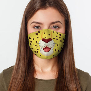Leopard Cartoon Fitted Face Mask